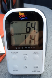 Bei rund 64 Grad erreichen wir die erste Plateauphase.