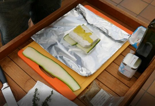 Zucchini Feta Päckchen