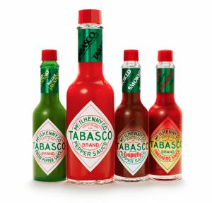 Inzwischen gibt es neben der Standard-Version weitere Saucen von Tabasco