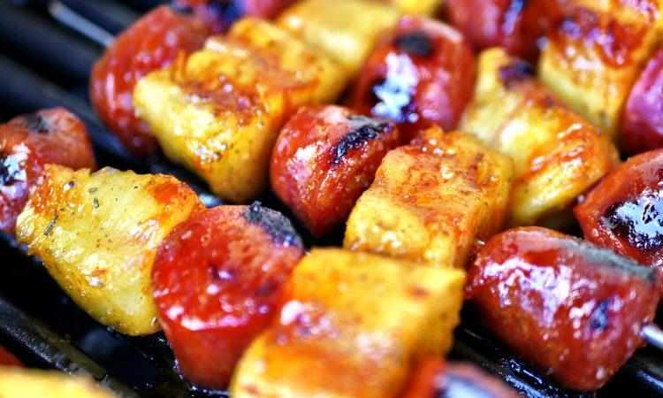 Chorizo Spieße mit beschwipster Ananas