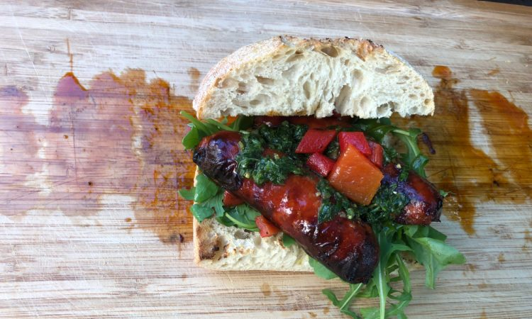 Pikantes Chorizo Sandwich vom Grill