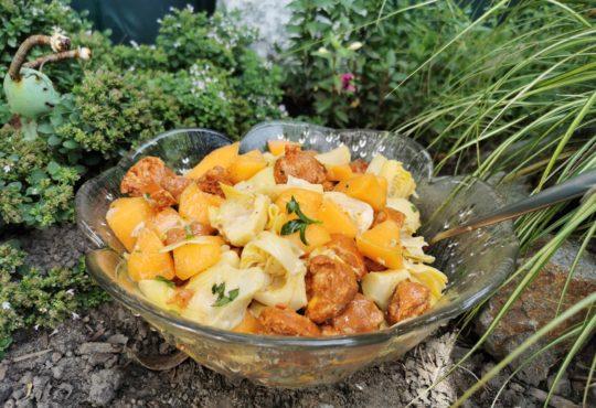 Artischocken-Melonen Salat mit Chorizo