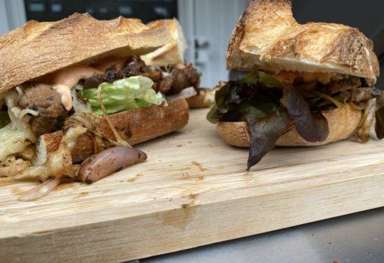 Steak-Sandwich mit Chili Mayonnaise